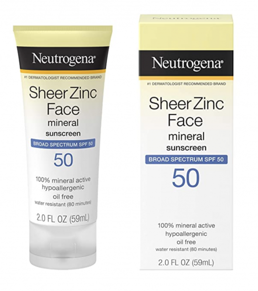 Neutrogena Sheer Zinc Oxide Dry-Touch Face Sunscreen SPF 50